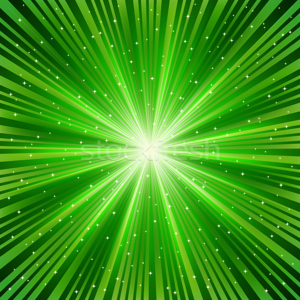 Verde estrellas resumen fondo espacio energía Foto stock © OlgaYakovenko