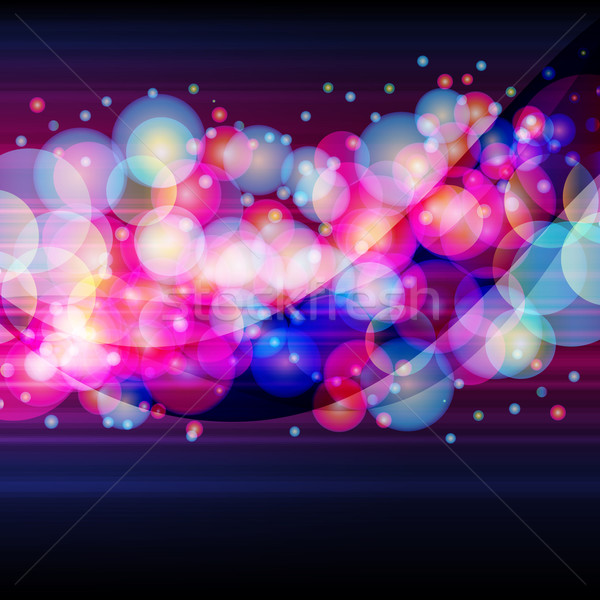 Broad stripe made of a luminous circles on a dark background.   Stock photo © OlgaYakovenko