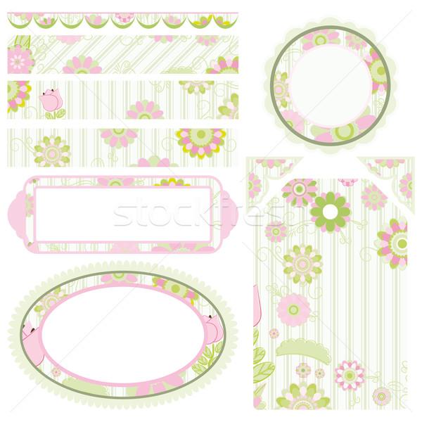 Image of Set of elements for design. Floral motive. Stock photo © OlgaYakovenko