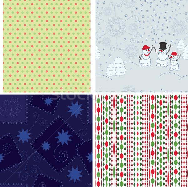 Set of Christmas backgrounds Stock photo © OlgaYakovenko