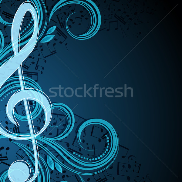 Notes musical vector background Stock photo © OlgaYakovenko