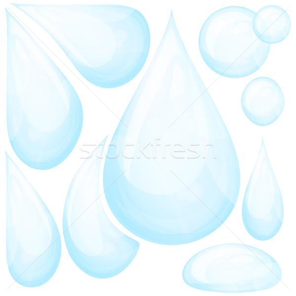Set of water drops.  Stock photo © OlgaYakovenko