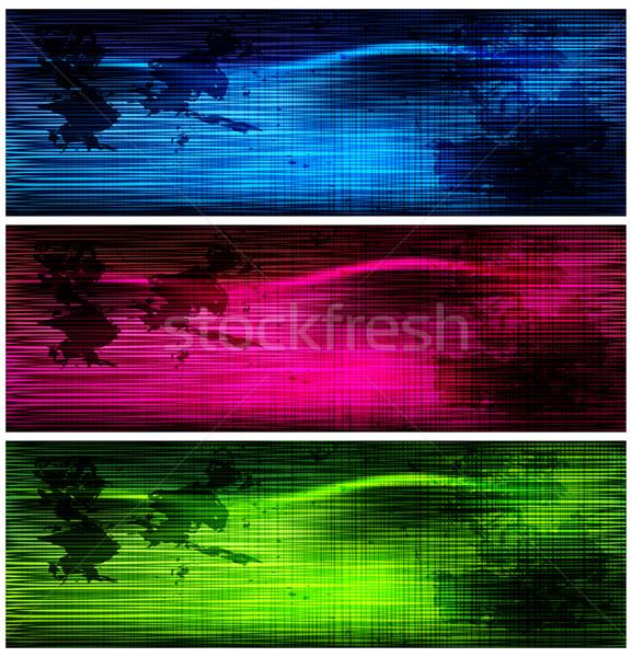 Sombre grunge bannières texture résumé Photo stock © OlgaYakovenko