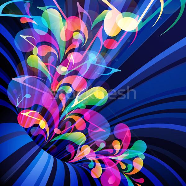 Musical theme. Splash of musical note, flying up on the backgrou Stock photo © OlgaYakovenko