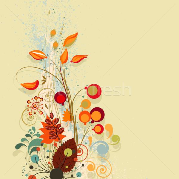 Sonbahar doku ağaç dizayn arka plan Stok fotoğraf © OlgaYakovenko