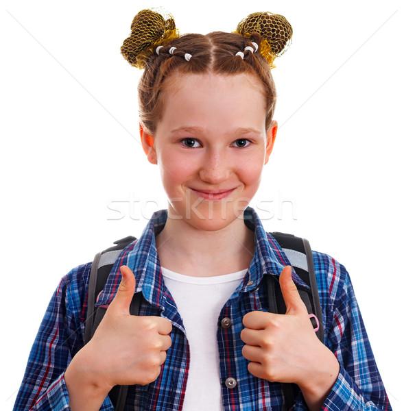 Cute мало Kid девушки рубашку Сток-фото © OlgaYakovenko
