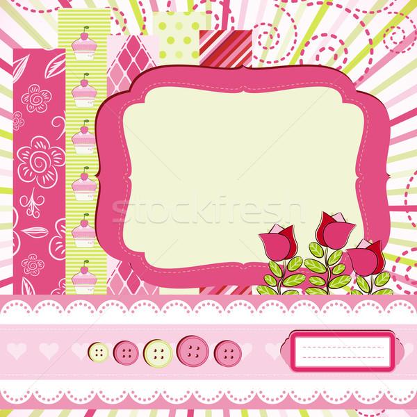 Baby girl Scrap background. Stock photo © OlgaYakovenko