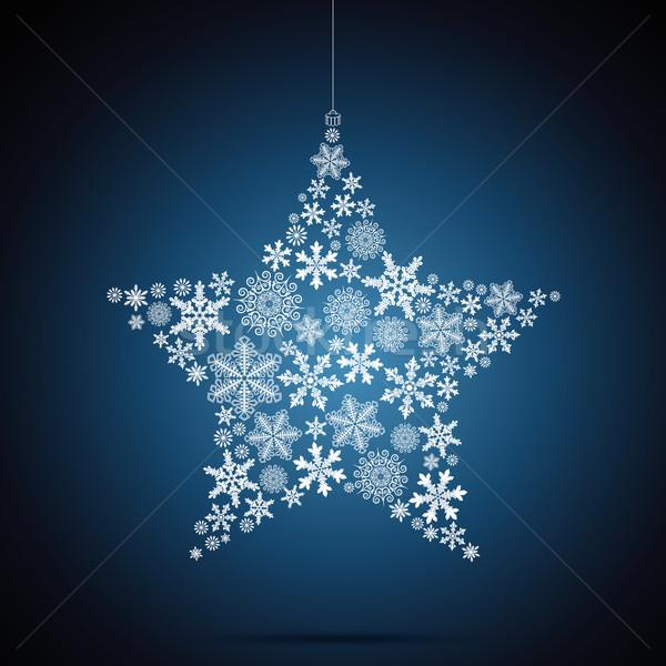 Сток-фото: Рождества · звездой · снежинка · дизайна · свет · снега