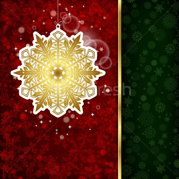 Weihnachten Dekoration Schneeflocken Illustration abstrakten Hintergrund Stock foto © OlgaYakovenko