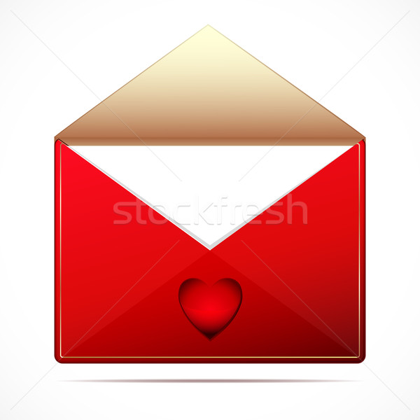 Stock photo: A love letter with a hearts. Vector image.