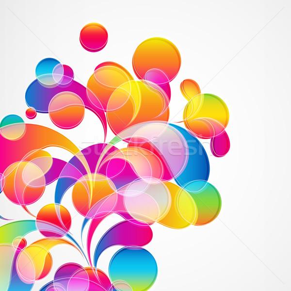 Foto d'archivio: Abstract · colorato · vettore · design · palla · wallpaper