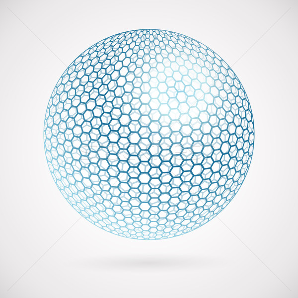 Abstract sphere of hexagons. vector background  Stock photo © OlgaYakovenko
