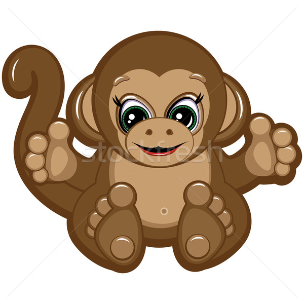 Little Monkey - one of the symbols of the Chinese horoscope Stock photo © OlgaYakovenko