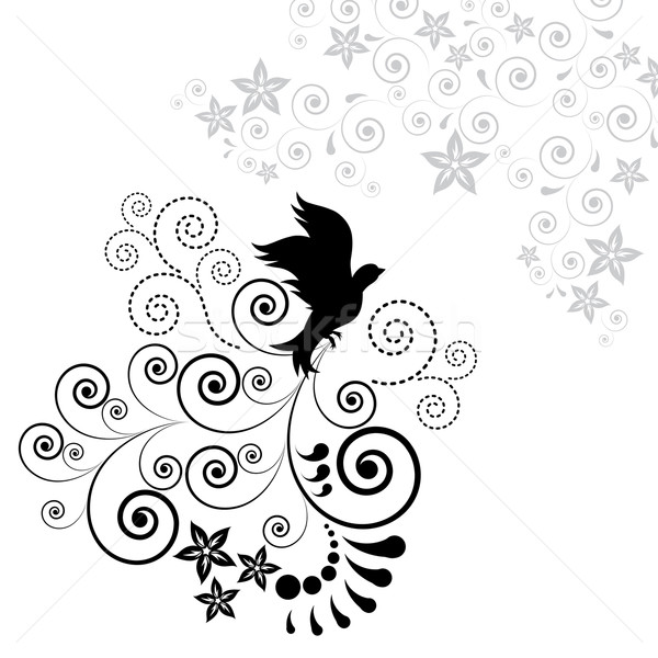 Background with a flying bird. Stock photo © OlgaYakovenko