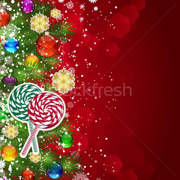 Christmas kerstboom ingericht glas Stockfoto © OlgaYakovenko