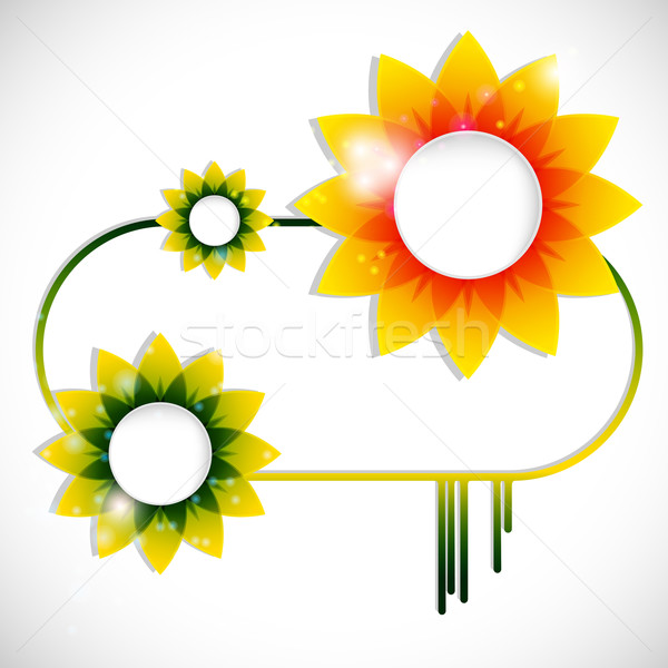 Vector floral banner with forms of empty frames for your www des Stock photo © OlgaYakovenko