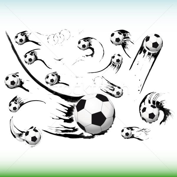 набор Flying Футбол иллюстрация аннотация Сток-фото © OlgaYakovenko