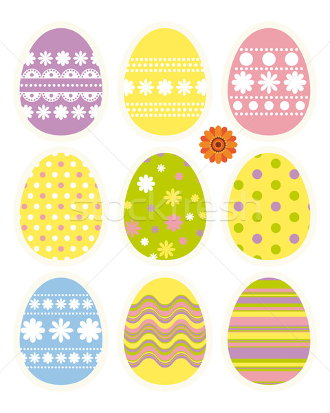 Set of Easter eggs Stock photo © OlgaYakovenko