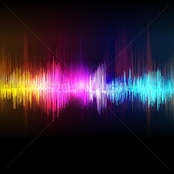 Vektor zene hangszínszabályozó hullám tánc terv Stock fotó © OlgaYakovenko