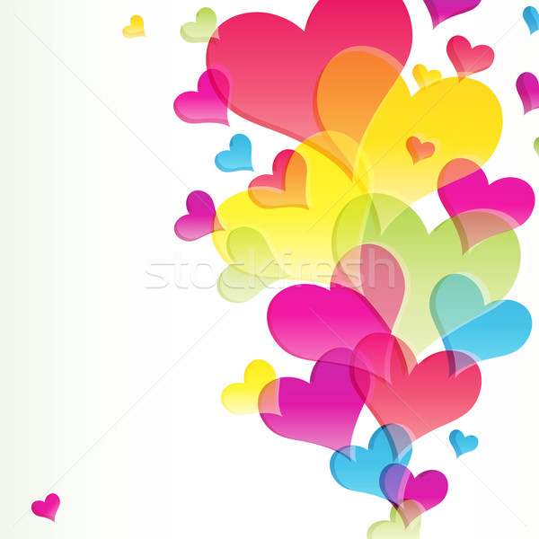 аннотация вектора бизнеса любви сердце свет Сток-фото © OlgaYakovenko