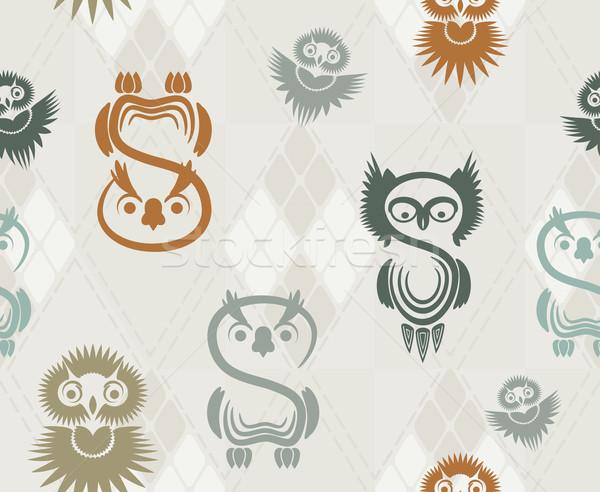 Stockfoto: Uilen · neutraal · papier · textuur