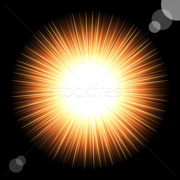 Sol preto cósmico céu luz fundo Foto stock © OlgaYakovenko