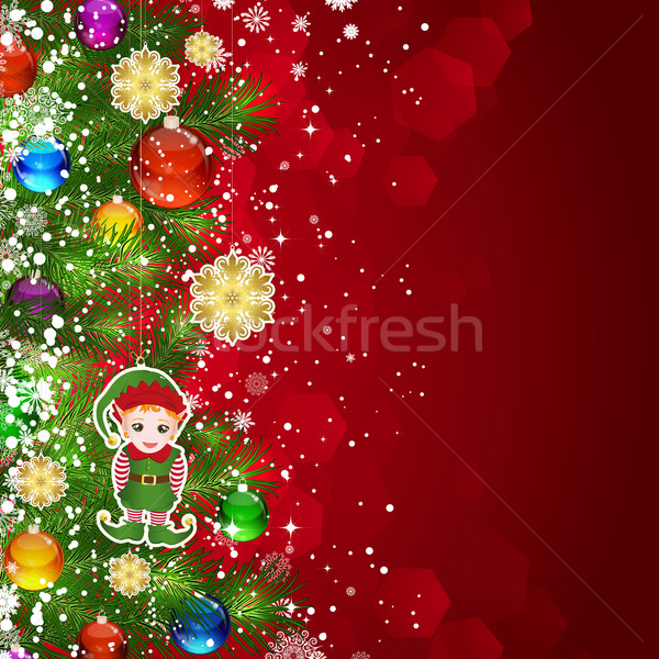 Navidad árbol de navidad decorado vidrio Foto stock © OlgaYakovenko