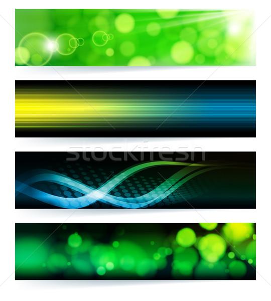 Foto d'archivio: Set · abstract · verde · design · arte
