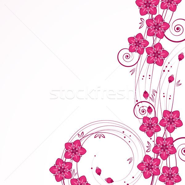 Gracioso floral jardim arte verão retro Foto stock © OlgaYakovenko