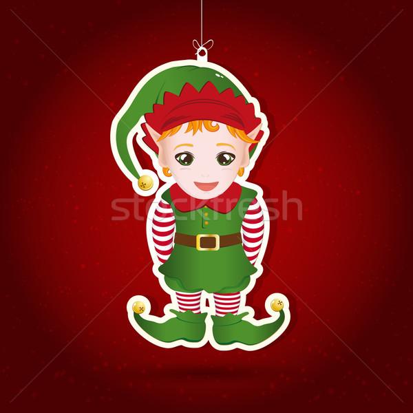 Navidad decoración ilustración fiesta resumen diseno Foto stock © OlgaYakovenko
