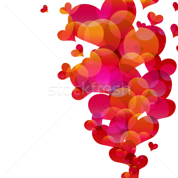 Abstract fly hearts.  Stock photo © OlgaYakovenko