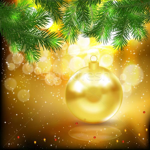 Navidad árbol resumen belleza arte espacio Foto stock © OlgaYakovenko