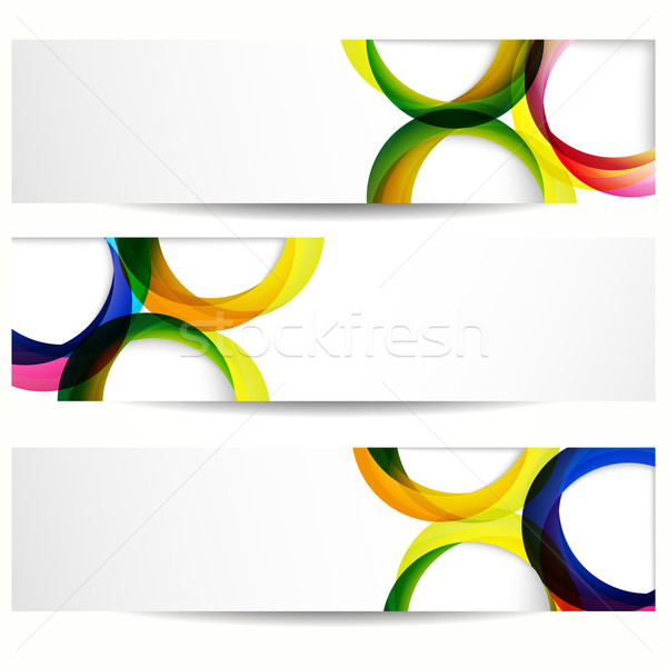 Abstract banner lege frames web design ruimte Stockfoto © OlgaYakovenko