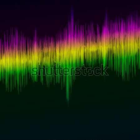 Línea ecualizador arco iris ilustración musical diseno Foto stock © OlgaYakovenko