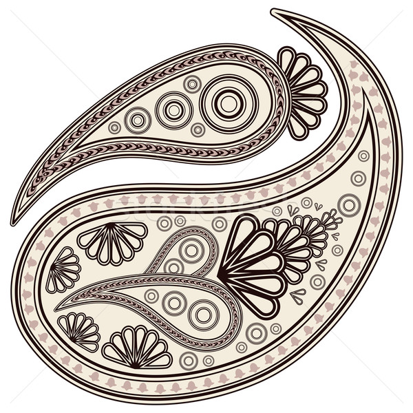 Doodle vector abstract henna schoonheid kunst Stockfoto © OlgaYakovenko