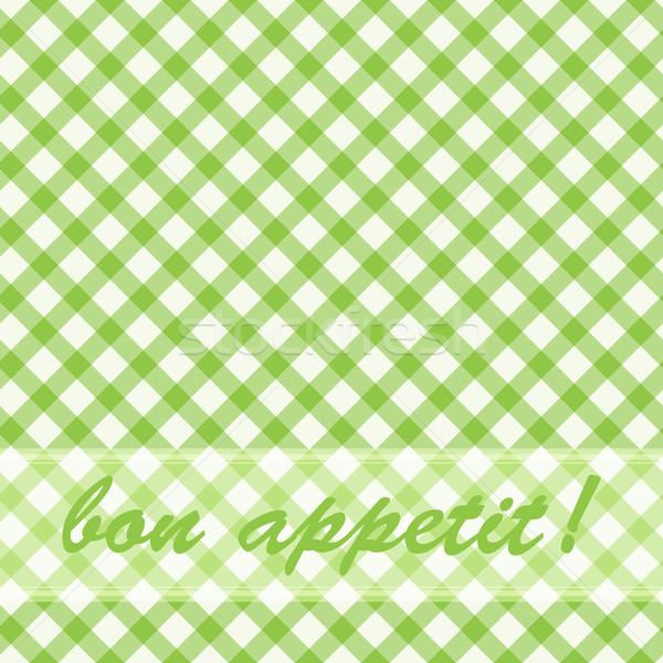 Pattern picnic green. Stock photo © OlgaYakovenko