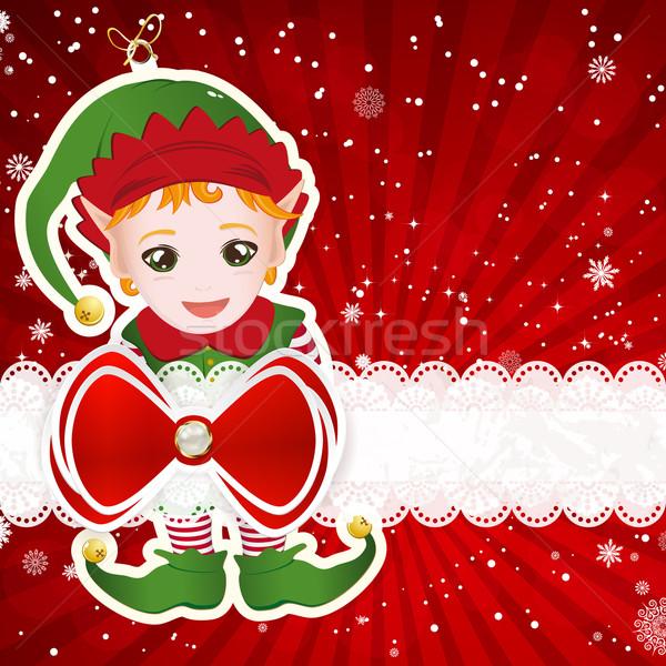 Navidad decoración elementos vector papel textura Foto stock © OlgaYakovenko