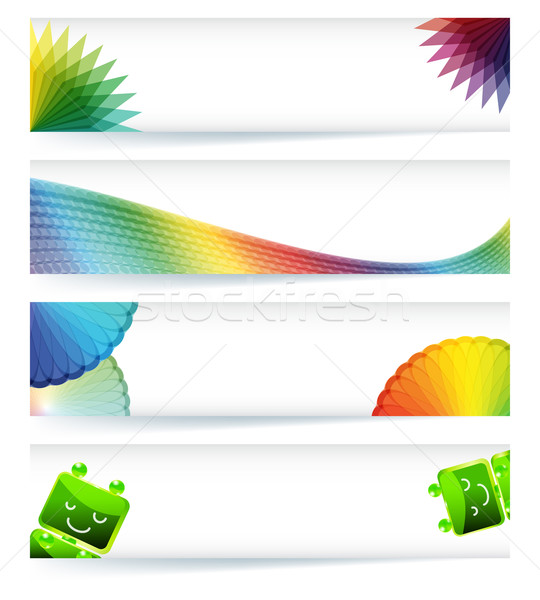 Banner design business abstract arte rete Foto d'archivio © OlgaYakovenko