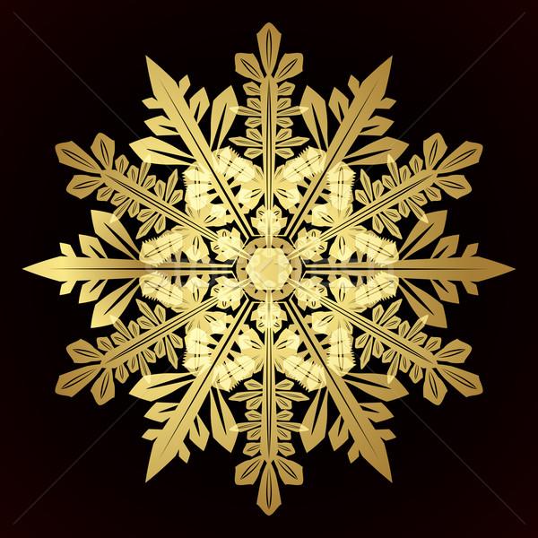 Card with christmas snowflake Stock photo © OlgaYakovenko