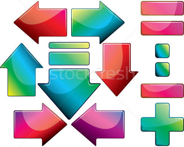 Establecer diseno elementos proyecto cruz vidrio Foto stock © OlgaYakovenko