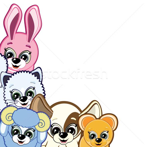 Vector Little Animals - of the symbols of the Chinese horoscope Stock photo © OlgaYakovenko