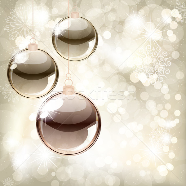 Christmas background with balls and place for your text  Stock photo © OlgaYakovenko
