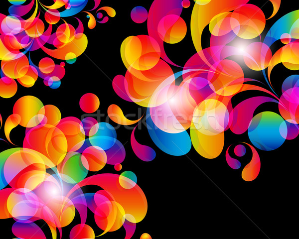 Card background. Abstract bright color drops and clean place for Stock photo © OlgaYakovenko