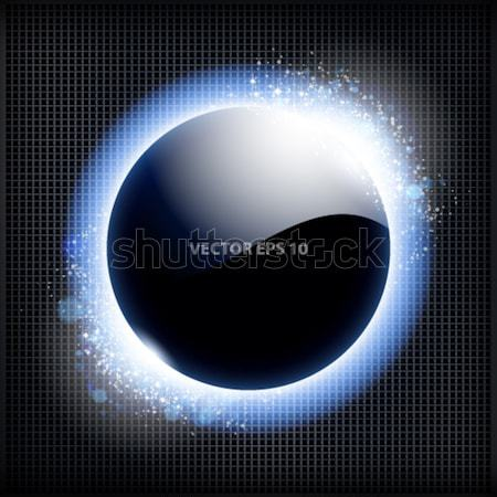 Techno background with blue light frame. Stock photo © OlgaYakovenko