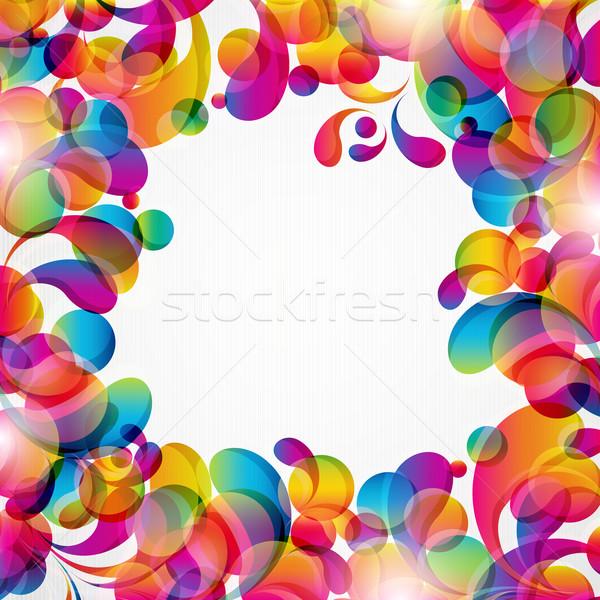 Abstrakten hellen Kreise Bogen Design Hintergrund Stock foto © OlgaYakovenko