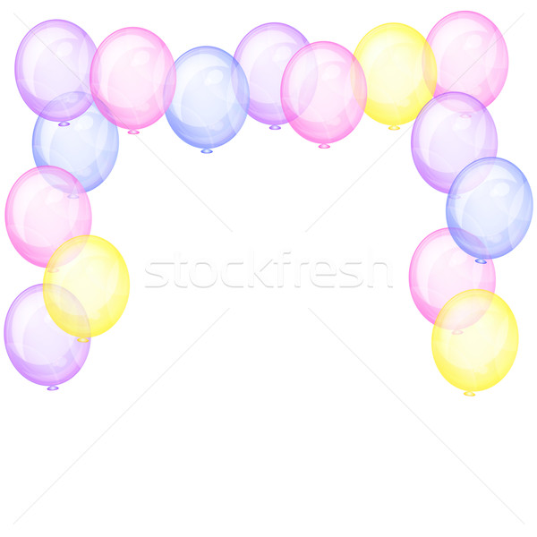 Background with transparent balloons. Stock photo © OlgaYakovenko