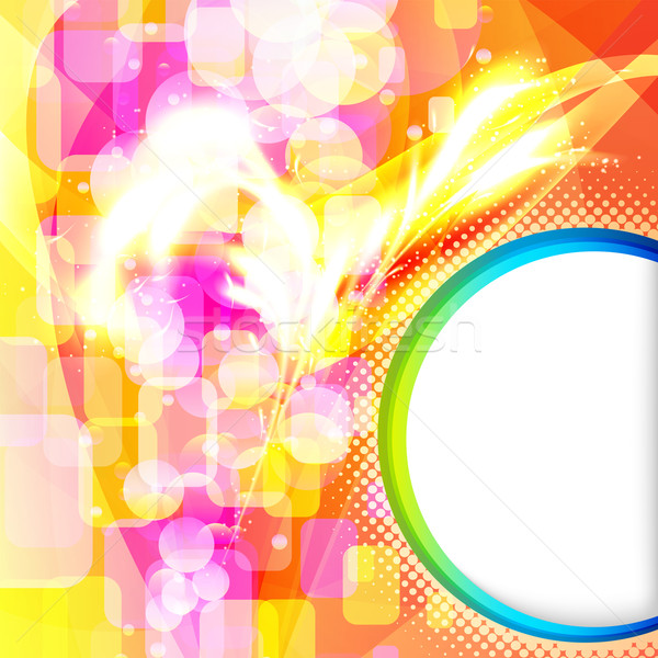 Abstract vector colorful background with forms of empty frames. Stock photo © OlgaYakovenko