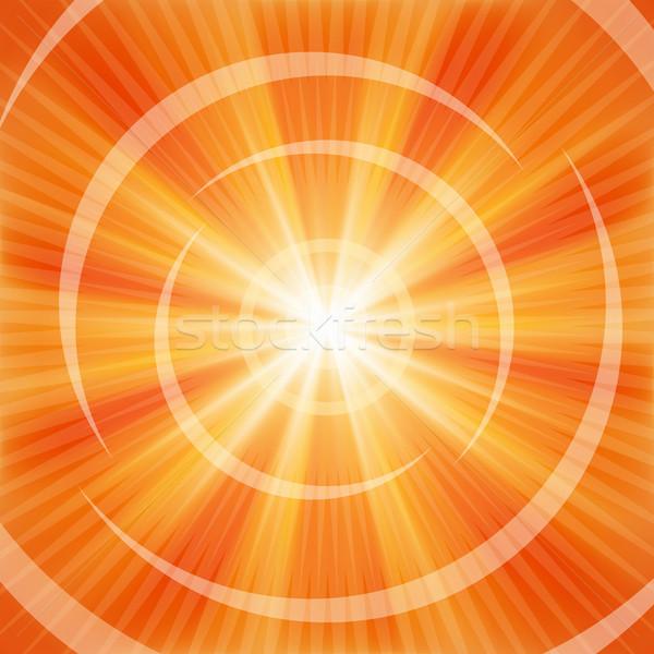 Bright Orange rays Stock photo © OlgaYakovenko