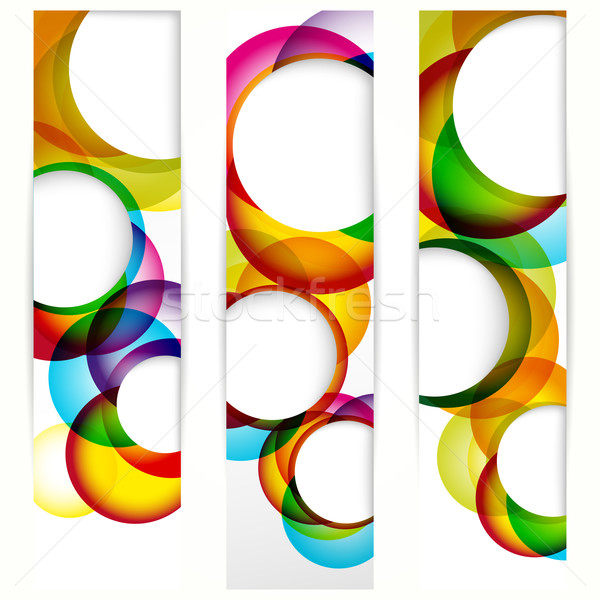 Abstract vertical banner with forms of empty frames for your www Stock photo © OlgaYakovenko