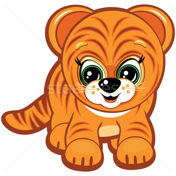 Vector Little tiger - one of the symbols of the Chinese horoscope Stock photo © OlgaYakovenko